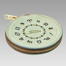 Terrida Designer Limited Edition Zodiac Virgo Blue Leather Charm Purse K... - $63.86
