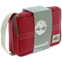 New Timberland Men's Premium Canvas Toiletrie Travel Flat Pack Red NP0304/05