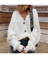 "Buttons Up Sweater Cardigan Women Knitwear V Neck Women""s Clothing Winte... - $23.10"