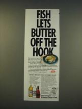 1990 Heinz Vinegars Ad - Orange Roughy with Cucumber Relish recipe - $14.99