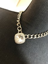 Lola & Grace Swarovski Chainlink Silver Necklace - $44.55