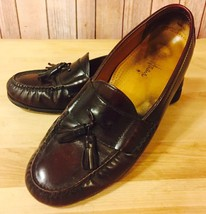 Cole Haan Deep Burgundy Leather Tassel Loafers Formal Shoe Sz 10.5 Goody... - $51.80