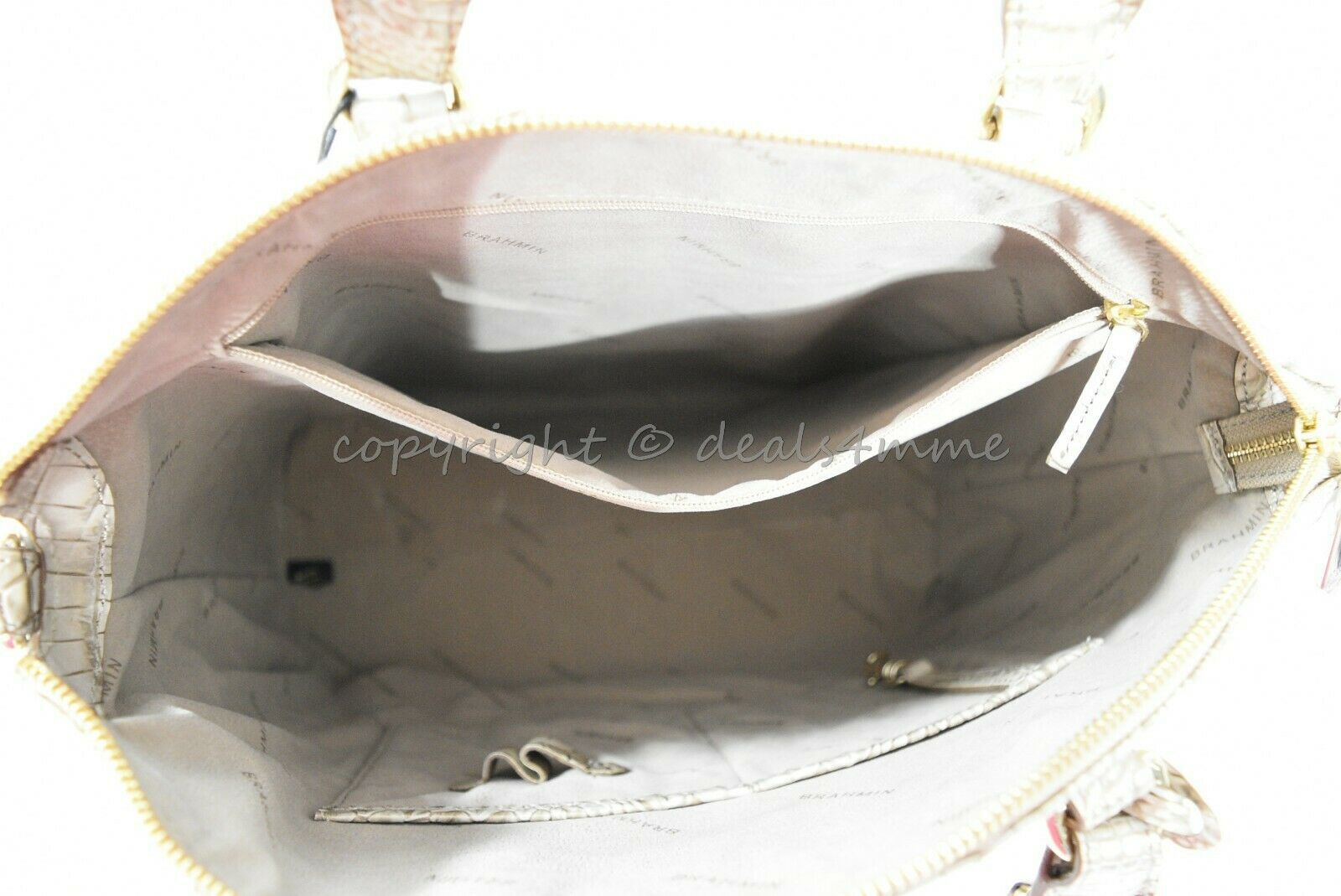 Brahmin Large Duxbury Leather Satchel/Shoulder Bag Sugar Cane Melbourne image 6