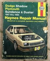Haynes Repair Manual 30055 Dodge Shadow Plymouth Sundance and Duster 1987-1994 - $6.25