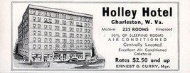 Holley Hotel Charleston West Virginia 225 Rooms Half w AC 1956 Travel To... - $10.99