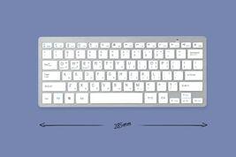 Actto Korean English Bluetooth Slim Keyboard Wireless Compact 10keyless (Silver) image 5