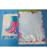 Spring Time Note Pads Stationery Rainy Day Boots & Flower Designs Lot of 2 - $9.95