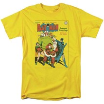 Batman Santa T-shirt comic book retro 80s cartoon DC gold Christmas tee DCO738 image 2
