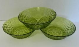 """AH Anchor Hocking Avocado Green Cereal Soup Salad Bowls Soreno Pattern 6"""" - $14.73"""