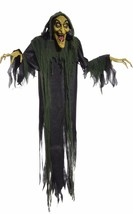 Hanging Witch Animated Halloween Prop Lifesize 6 FT Poseable Talks FAST ... - €30,47 EUR