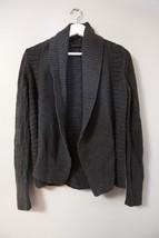 Calvin Klein Dark Gray Open Front Cardigan Sweater Sz S Cotton Womens Ca... - $24.19