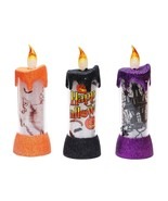 3 Halloween Color Changing LED Lighted Sparkle Candles - $27.95
