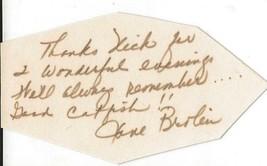Jane Brolin Signed Index Card JSA actress wife of James - $49.49