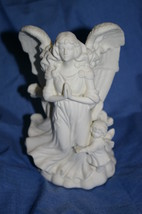 PartyLite Angel of Hope Bisque Taper Holder Party Lite - $15.00