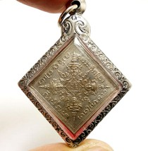 THAI AMULET BLESSED 1989 LP DOO PHRA PROM BRAHMA RASAMI COIN PROTECTION ... - $158.39