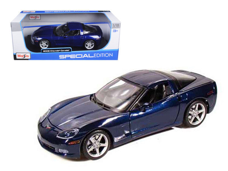 2005 Chevrolet Corvette C6 Coupe Blue 1/18 Diecast Model Car by Maisto