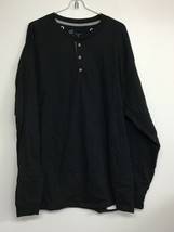 Hanes Beefy T, X-Large Black Long Sleeve Henley T-shirt. New Without Tags - $11.64