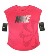 Nike Girl's Dry Athletic Cut Cap Sleeve Shirt Pink Size 6 36D893-A4F - $19.99