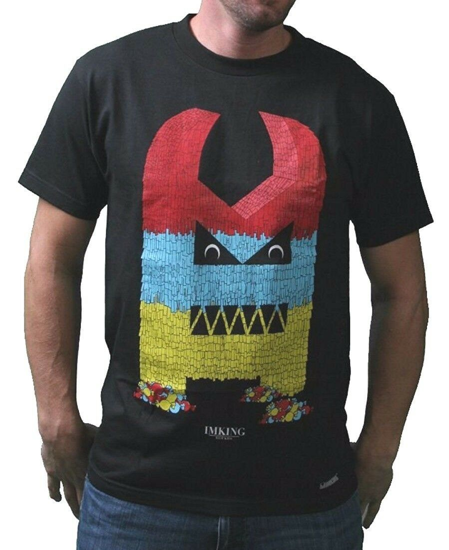 Im King Hommes Jaune ou Noir Célébrer Pinata Fête Candy T-Shirt USA Fabriqué Nwt