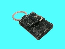 Coach C Signature Logo Keychain Fob Lurex Picture Frame Purse Handbag Ch... - $29.69