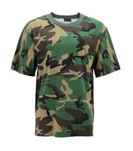 Men's Made in USA Crewneck Camo 100% Cotton Shirt Lightweight Army T-shirt image 2