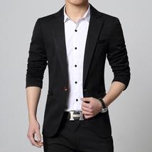 New Fashion Autumn and Winter Men Black Suit Jacket Men's Casual Business Suit J image 6