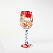"""Love My Dog """"Designs by Lolita"""" Wine Glass 15 o.z. 9"""" High  Gift Boxed image 2"""