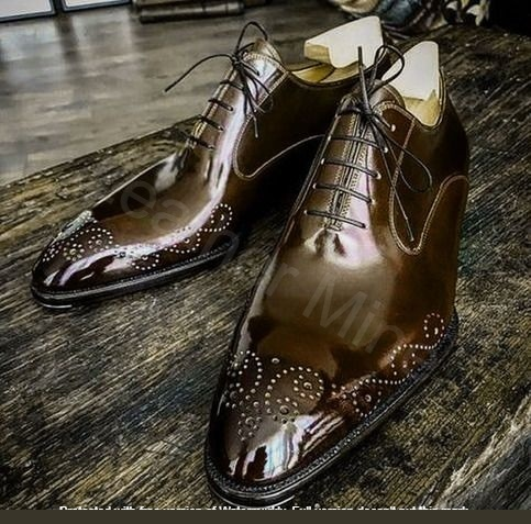 Primary image for Men's Handmade Leather Lace up, Genuine Leather Patina Oxfords Shoes For Men
