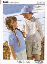Sirdar Knitting Pattern 4238 - Nova Super Chunky Sweaters for Children 1-12 yrs - $6.92
