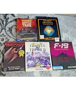 PC vintage IBM game lot of 5 Battle Tank F-19 Falcon The blue & gray + - $74.25