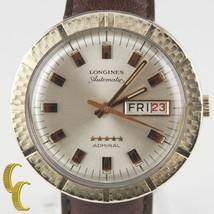 Longines Admiral 10k Gold Filled Automatico Giorno/Data Orologio con / - $886.52