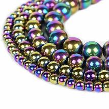 """Rainbow Hematite Beads 6mm Loose Gemstone Round 15.5"""" Full Strand - $13.86"""