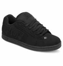 MENS DC NET SKATEBOARDING SHOES NIB BLACK BLACK BLACK    (3BK) - $64.99