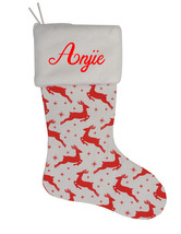 Anjie Custom Christmas Stocking Personalized Burlap Christmas Decoration - $17.99