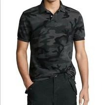 Polo Ralph Lauren Men's CHARCOAL Camouflage Classic Mesh Polo Shirt, US M - $44.54