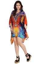 Dress in Women's Silk Caftan Tunic Embellished With Ornament Design and ... - $93.00