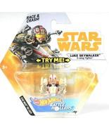 1 Ct Star Wars Hot Wheels Luke Skywalker X Wing Fighter Die Cast Battle ... - $10.99