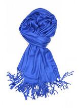 Royal Blue Fashion Pashmina Shawl Scarf 64 x 28 inches Tassels Womens - $9.11