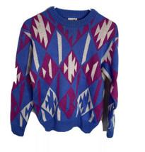 Vintage Spyder Women's heavy sweater Aztec color block size M - $29.65
