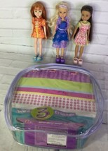 Wee 3 Three Friends Party Dress Fun Dolls Set Janet Stacie Miranda Matte... - $39.59