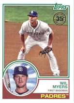 2018 Topps 1983 Topps #83-94 Wil Myers NM-MT Padres - $0.99
