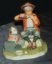 "Norman Rockwell ""Boy and his Dog"" figurine AA20-7243 Vintage"