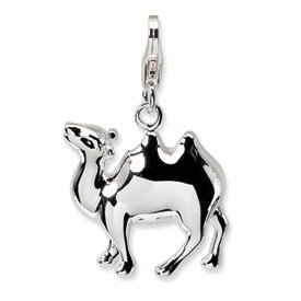 Sterling Silver 3-D Camel w/Lobster Clasp Charm Valentine Gift Special