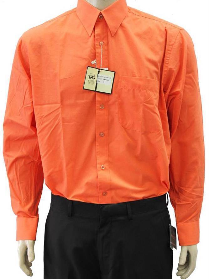 NEW NWT DESIRE MEN'S CLASSIC LONG SLEEVE BUTTON UP CASUAL DRESS SHIRT MANDARIN