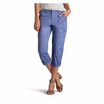 Lee Women's Carsen Capri Refresh Blue Size 10 Medium 23 1/2 In Inseam New - $32.66