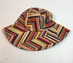 9ab6c2f620ec Vintage Bucket Sun Hat Bohemian Boho Striped Cap Floppy Geometric M/L -  $18.95