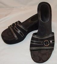 Coach Mujer Negro Firma Sandalias con Cuña 9M 9M Tyra II Zapatos - $35.35