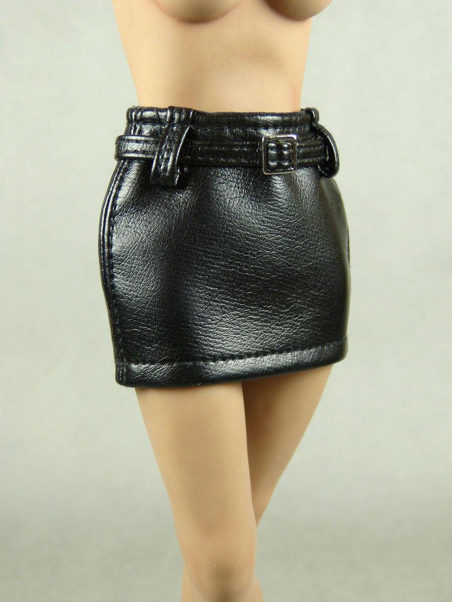 1/6 Phicen, TBLeague, Hot Toys, NT Female Black Leather Mini Skirt w/ Belt - $13.37