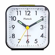 Pluteck Non Ticking Analog Alarm Clock with Nightlight and Snooze/Ascend... - $17.85