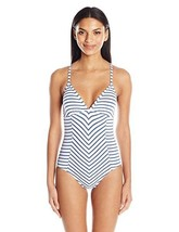 Splendid Women's Chambray All Day Soft Cup One Piece Swimsuit, Blue, SZ ... - $59.90